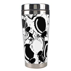 Black And White Garden Stainless Steel Travel Tumblers by Valentinaart