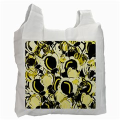 Yellow Abstract Garden Recycle Bag (one Side) by Valentinaart