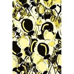 Yellow Abstract Garden 5 5  X 8 5  Notebooks by Valentinaart