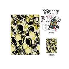 Yellow Abstract Garden Playing Cards 54 (mini)  by Valentinaart