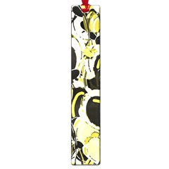 Yellow Abstract Garden Large Book Marks by Valentinaart