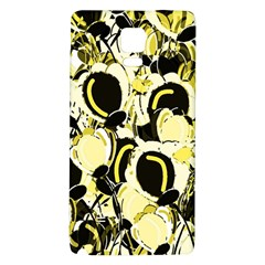 Yellow Abstract Garden Galaxy Note 4 Back Case by Valentinaart