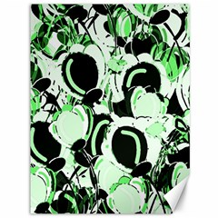 Green Abstract Garden Canvas 36  X 48   by Valentinaart