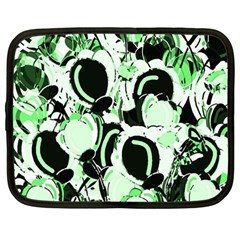 Green Abstract Garden Netbook Case (large) by Valentinaart
