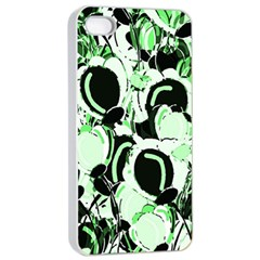 Green Abstract Garden Apple Iphone 4/4s Seamless Case (white) by Valentinaart