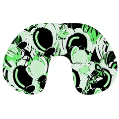 Green Abstract Garden Travel Neck Pillows by Valentinaart