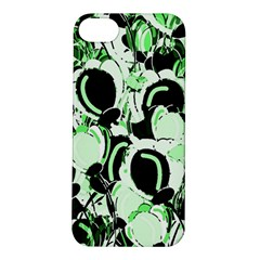 Green Abstract Garden Apple Iphone 5s/ Se Hardshell Case by Valentinaart