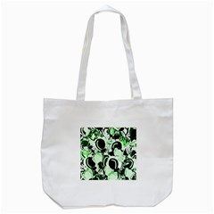 Green Abstract Garden Tote Bag (white) by Valentinaart