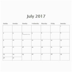 2017 Flower Calendar  By Mim   Wall Calendar 11  X 8 5  (12 Months)   6fkkiva18ndh   Www Artscow Com Jul 2017