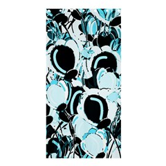 Blue Abstract  Garden Shower Curtain 36  X 72  (stall)  by Valentinaart