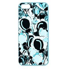 Blue Abstract  Garden Apple Seamless Iphone 5 Case (color) by Valentinaart
