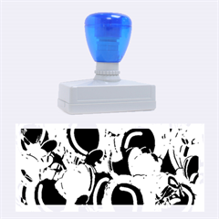 Blue Abstract Floral Design Rubber Stamps (large) by Valentinaart