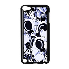 Blue Abstract Floral Design Apple Ipod Touch 5 Case (black) by Valentinaart