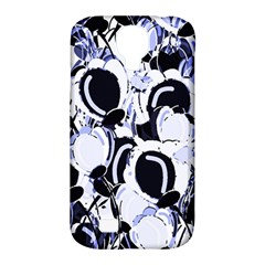 Blue Abstract Floral Design Samsung Galaxy S4 Classic Hardshell Case (pc+silicone) by Valentinaart