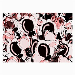 Pink Abstract Garden Large Glasses Cloth by Valentinaart