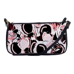 Pink Abstract Garden Shoulder Clutch Bags by Valentinaart