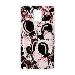 Pink Abstract Garden Samsung Galaxy Note 4 Hardshell Case by Valentinaart