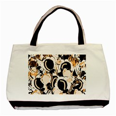 Orange Abstract Garden Basic Tote Bag by Valentinaart