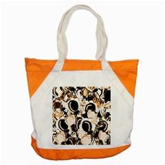 Orange Abstract Garden Accent Tote Bag by Valentinaart