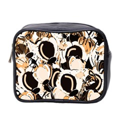 Orange abstract garden Mini Toiletries Bag 2-Side