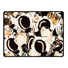 Orange Abstract Garden Fleece Blanket (small) by Valentinaart