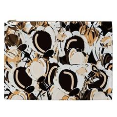 Orange Abstract Garden Cosmetic Bag (xxl)  by Valentinaart
