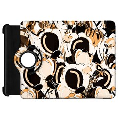 Orange Abstract Garden Kindle Fire Hd Flip 360 Case by Valentinaart
