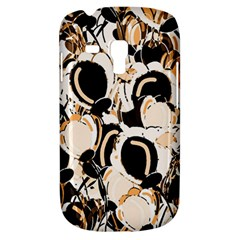 Orange Abstract Garden Samsung Galaxy S3 Mini I8190 Hardshell Case by Valentinaart