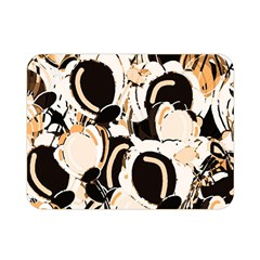 Orange Abstract Garden Double Sided Flano Blanket (mini)  by Valentinaart