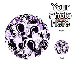 Purple Abstract Garden Playing Cards 54 (round)