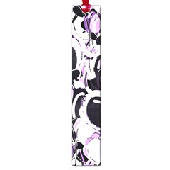 Purple Abstract Garden Large Book Marks by Valentinaart