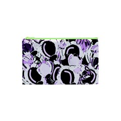 Purple Abstract Garden Cosmetic Bag (xs) by Valentinaart