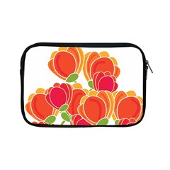 Orange Flowers  Apple Ipad Mini Zipper Cases by Valentinaart