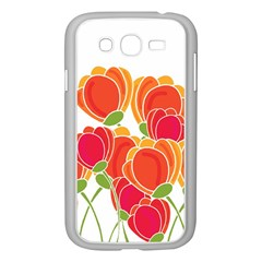 Orange Flowers  Samsung Galaxy Grand Duos I9082 Case (white)