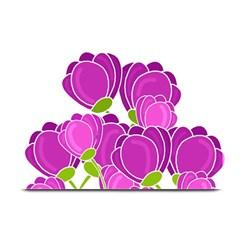 Purple Flowers Plate Mats by Valentinaart
