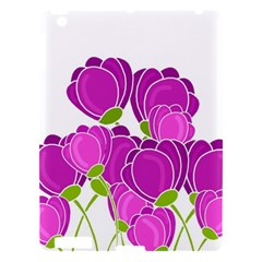 Purple Flowers Apple Ipad 3/4 Hardshell Case by Valentinaart