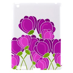 Purple Flowers Apple Ipad 3/4 Hardshell Case (compatible With Smart Cover) by Valentinaart