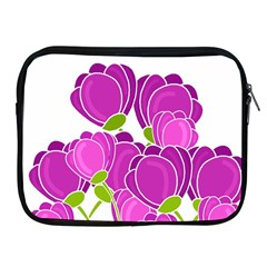 Purple Flowers Apple Ipad 2/3/4 Zipper Cases by Valentinaart