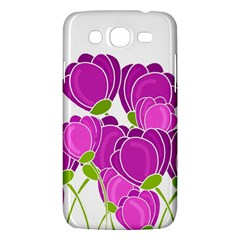 Purple Flowers Samsung Galaxy Mega 5 8 I9152 Hardshell Case  by Valentinaart