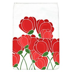 Red Floral Design Flap Covers (l)  by Valentinaart