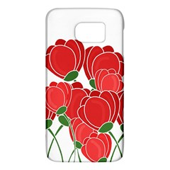 Red Floral Design Galaxy S6 by Valentinaart