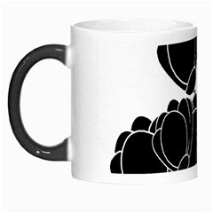 Black Flowers Morph Mugs by Valentinaart