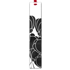 Black Flowers Large Book Marks by Valentinaart