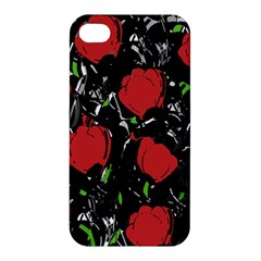 Red Roses Apple Iphone 4/4s Premium Hardshell Case by Valentinaart