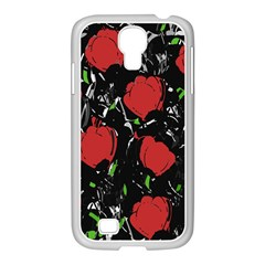 Red Roses Samsung Galaxy S4 I9500/ I9505 Case (white) by Valentinaart