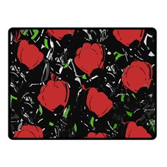 Red Roses Double Sided Fleece Blanket (small)  by Valentinaart