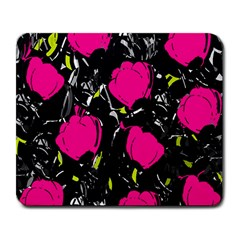 Pink Roses  Large Mousepads by Valentinaart