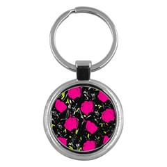 Pink Roses  Key Chains (round)  by Valentinaart