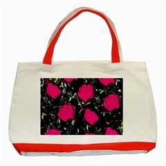Pink Roses  Classic Tote Bag (red) by Valentinaart