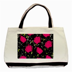 Pink Roses  Basic Tote Bag (two Sides) by Valentinaart